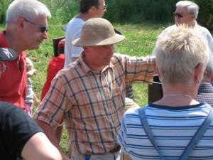 Bild: mit Hut unserer 1. Vorsitzender Jürgen Biehl